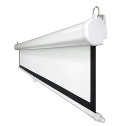Basic Manual projection screen with controlled roll-up and black masking